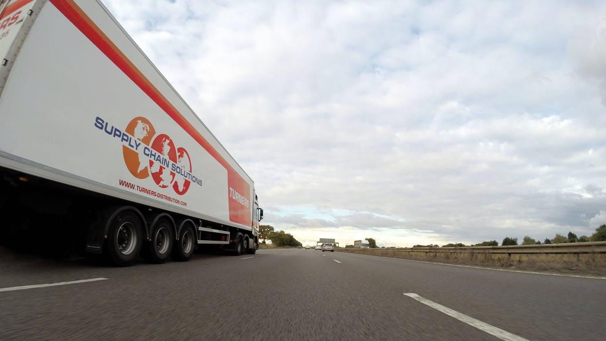 Freight forwarding company truck