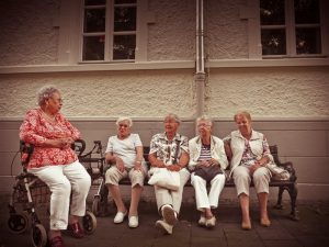 Old woman getting aged care financial advice